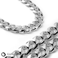 767b965c499c93 Łańcuch srebrny męski szeroka gruba pancerka