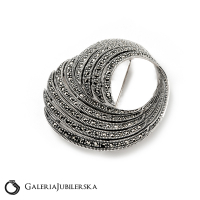 ea36ad39eeee Broszka srebrna z markazytami wysyłka 24h prezent